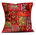 An Ethnic Embroidery Sequin Patchwork Throw Pillow Cases Cushion Cover - inexpensive UK light shop.
