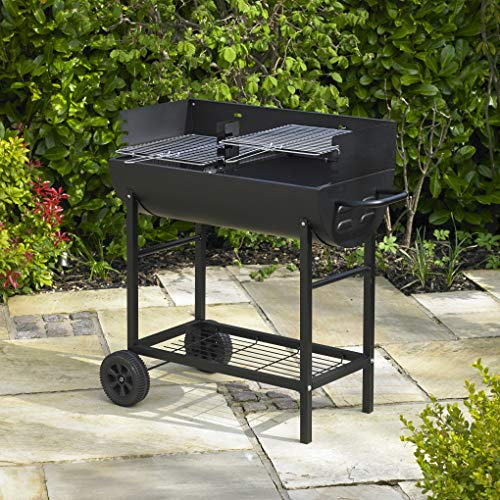 61tgS gRUML. SS500  - Kingfisher OUTBBQ Half Drum Barrel Steel BBQ Barbecue