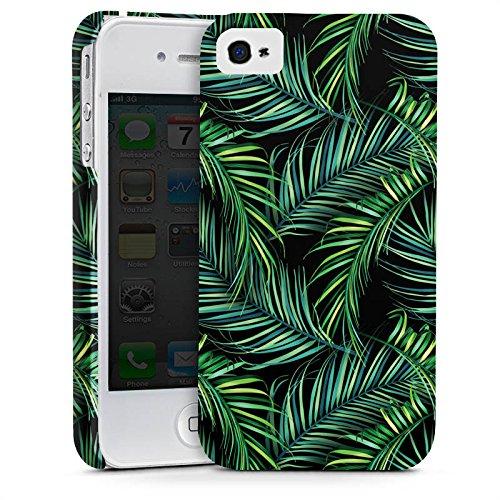 Apple iPhone X Silikon Hülle Case Schutzhülle Palmen dschungel Natur Premium Case glänzend