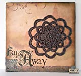 "Wall Art Mandala creativo, lámina decorativa sobre corcho con mandala marrón.""Far far away""."
