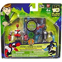 Ben 10 (Ten) Alien Creation Chamber Mini Figure 2Pack Four Arms and amp XLR8