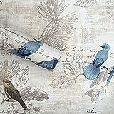 HLMYYO 3D-Universum Selbstklebende Tapete Wand Wohnzimmer Schlafzimmer Wand dekorative Tapeten Kaufen Sie DREI eins kostenlos (Color : Blue Bird)