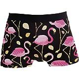 Slip da Uomo Boxer Autunno Foglie Animal Bird Flamingo Intimo Maschile Tronchi Elasticizzati Traspiranti Bulge Pouch Soft Und