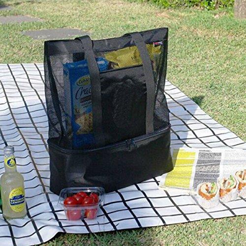 Outdoor Moda Impermeabile Facile Da Pulire Sacchetto Di Picnic Di Nylon,Black Black