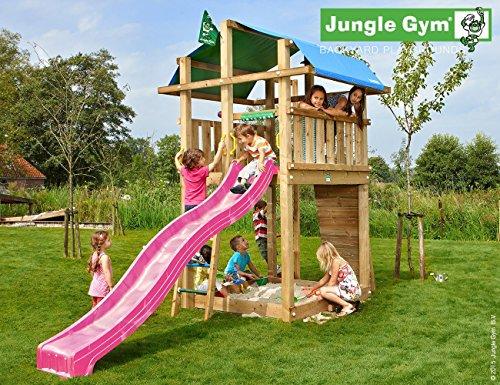 Preisvergleich Produktbild JUNGLE GYM Spielturm Jungle FORT mit Wellen-Rutsche, Gesamtmaße (B/T/H): 200/440/300 cm