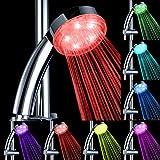 Grifos de Ducha Pulverizador Cabeza de Baño 24cm LED 7Color-Luz Cambia El Agua