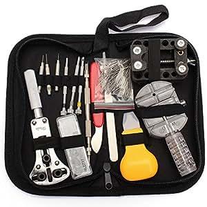 baban montre kit montre tool 144pcs outil de r paration montre kit professionnel d 39 horlogerie. Black Bedroom Furniture Sets. Home Design Ideas