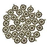 YNuth 30x Anhänger Kompaß Bronze Legierung Halskette Armband Basteln Zubehör DIY