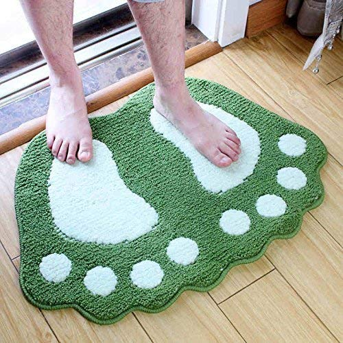 carpet Waschbar Vakuum Durable Home Küche Schlafzimmer Studie Bad Fußmatte, Rutschfeste Saugfähige und Nicht Reizwirkung Teppich Startseite Tägliche Matte,0.48 * 0.67m,Grau