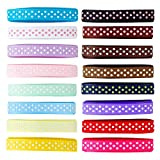 "LaRibbons Solid Color Satin Ribbon, 10 Colors 3/8"" X 5 Yard Each Total 50 Yds per Package"