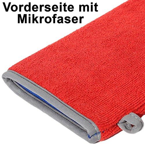 Preisvergleich Produktbild SBT Rot Mikrofaser Handschuh mit Reinigungsknete Heavy, Poliertuch, Auto Lackreiniger