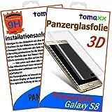 tomaxx 3D Panzerglas für Samsung Galaxy S8 Panzerglasfolie Hartglas Glasfolie