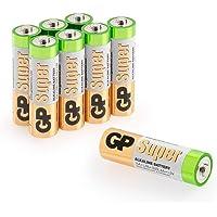 GP Batterien AA (Mignon, LR6) 1.5V, Super Alkaline Longlife Technologie, 8 Stück Mignon Batterien in Original…