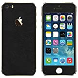 #9: GADGETS WRAP FULL BODY BLACK LEATHER SKIN FOR APPLE IPHONE 5S (S-116)