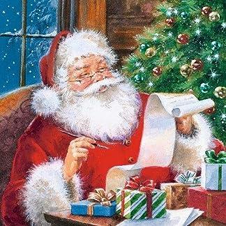 20Servilletas 33x 33cm Navidad Papá Noel la lista Niños