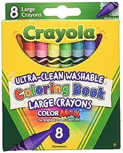 Crayola Coloring Book Washable Crayons-8/Pkg