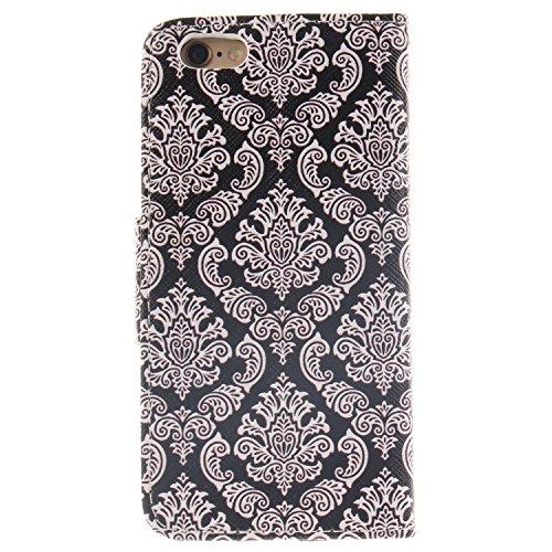 MOONCASE iPhone 6/6S Coque, Printing Series Case Étui en Cuir Portefeuille Housse de Protection Etui à rabat Cover pour Apple iPhone 6 / 6S (4.7 inch) TX15 TX08 #0401