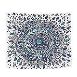 Lumanuby 1x Indisch Stil Blume Hippie-Tapisserie Flanell Mandala Gobelin als Dekotuch/Tischdecke Orientalisch Psychedelic Wand Deko für Wohnzimmer und Schlafzimmer Size 150x100CM