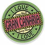 2 x 10cm/100 mm Gran Canaria, Islas CanariasEtiqueta autoadhesiva de vinilo adhesivo portátil de viaje equipaje signo coche divertido #9493