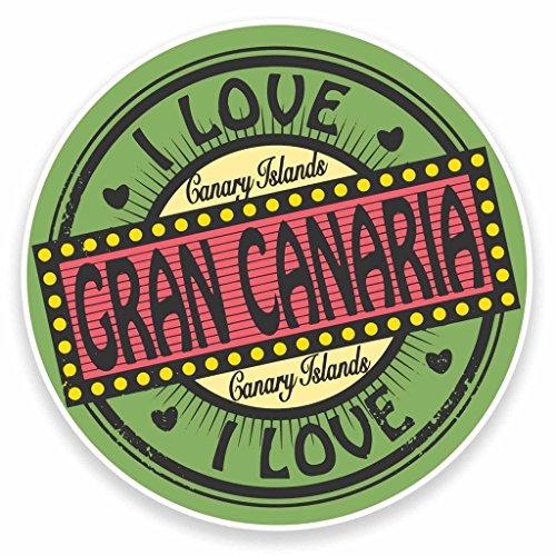 Preisvergleich Produktbild 2x Gran Canaria Kanarischen Inseln Vinyl Aufkleber Aufkleber Laptop Auto Reise Gepäck Label Tag # 9493 - 10cm/100mm Wide