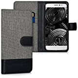 kwmobile Wallet Case Canvas Hülle für Coolpad Torino S -