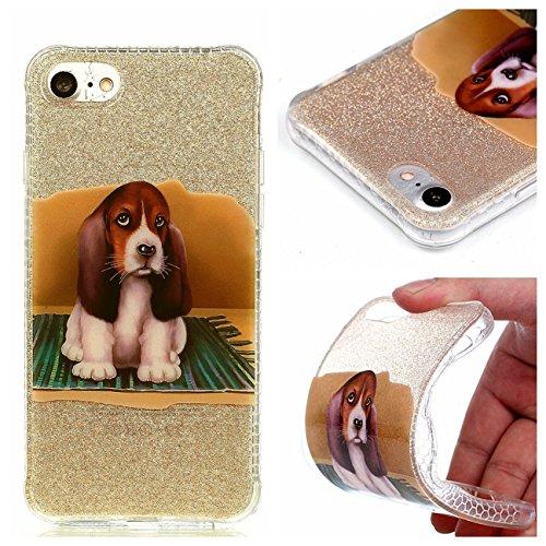 iPhone 8 Hülle, Voguecase Silikon Schutzhülle / Case / Cover / Hülle / TPU Gel Skin für Apple iPhone 8 4.7(Rot Fuchs 02) + Gratis Universal Eingabestift Hund 04