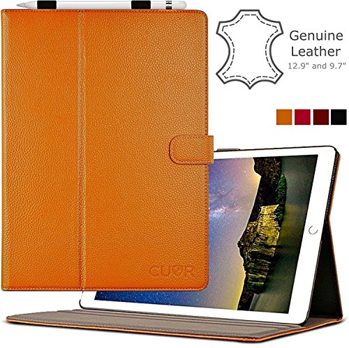 ipad-pro-case-genuine-leather-in-tan-by-cuvr-129-with-auto-sleep-pencil-holder-and-multiple-standing