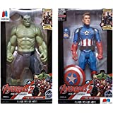GRAPPLE DEALS Combo Of 2 Avengers Action Figure Toy For Kids. (Hulk-C.A)