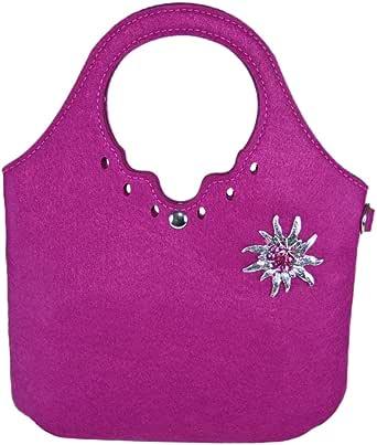 Trachtenland - Umhängetasche kleiner Shopper mit Edelweiß oder Hirsch Applikation - Dirndl Handtasche