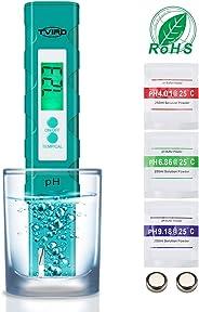 PH Messgerät PH Wert Messgerät Digital ,Tvird PH Tester Pool ATC Wasserqualitätstest Messgerät mit LCD Display Hohe Genauigk