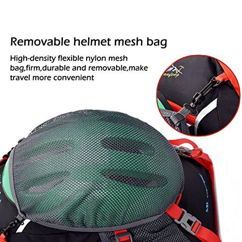 Fahrradrucksäcke, 18L Leichter Fahrrad Rücksack mit Regenschutzkappe Orange