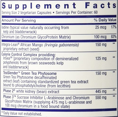 Life Extension Optimised Irvingia with Phase 3, 120 Vegetarian Capsules