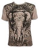 Sure Herren T-Shirt Ganesha OM Symbol Elefanten-Gott Indien Hinduismus Religion Goa (Khaki Braun XL)