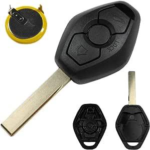 Konikon Autoschlüssel Schlüssel Auto Rohling Fernbedienung Gehäuse Ersatz Set Lir2025 Batterie Akku Neu Passend Für Bmw