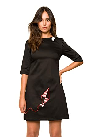Discount Cheap Online Limited Edition Cheap Price Womens Vestido Kite Negro Dressed Divina Providencia Outlet Pay With Paypal YYt277