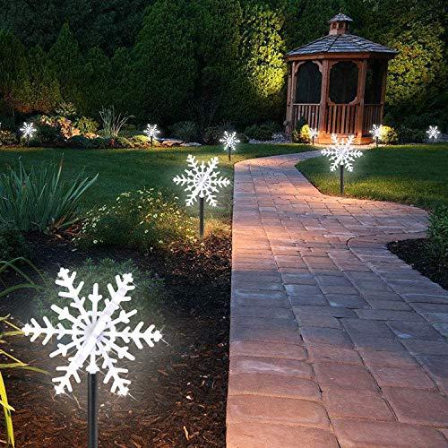 Lámpara jardín LED Frasco nieve 3d luminoso intermitente