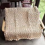 120*150CM fatto a mano Lana grossa gigante Tiro a maglia Throw Tappeto morbido Coperta del divano Tessuto Salotto della casa Decor 5 Taglie 9 Colore