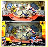 HALF PIPE SKATE RAMP FINGER DECK SKATEBOARD BMX STUNT BIKE PLAYSET GIFT TY511