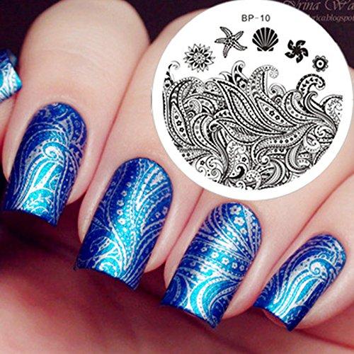 Nail Art Stamping Bild Metal Platte Nail Art Design Muster Vorlage Pflanze - AP10 - FashionLife
