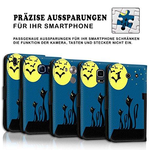 Wallet Book Style Flip Handy Tasche Case Schutz Hülle Schale Motiv Etui für Apple iPhone 5 / 5S - Variante UMV4 Design12 Design 1