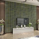 YUANLINGWEI 3D Stereo Schlafzimmer Tapete Einfach Wohnzimmer Tv Hintergrundbild, Schwärzlich Grün