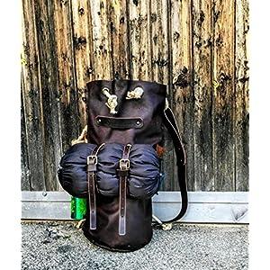 Leder Camping Tasche Handgefertigte Handwerker Camping Rucksack Tasche Ledertasche Man TheWestlands Reisetasche Made in Italy