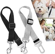 Hunde Sicherheitsgurt Auto, Nasharia Hunde Sicherheitsgurt Katzen Auto Sicherheitsgeschirre Hunde, Einstellbar Hundegurt mit Elastische Ruckdämpfung für Alle Hunderassen(2 Stück)