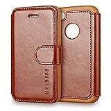 Coque iPhone 4s,Mulbess [Credit Card Slot Vintage Series] Housse Etui en cuir Avec...
