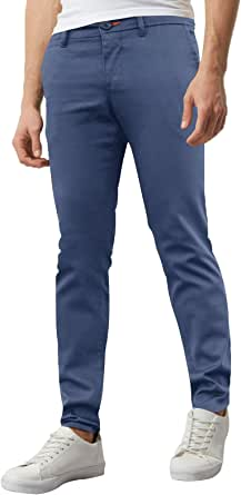 westAce Mens Skinny Stretch Chino Trousers Super Skinny Spandex Jeans Casual Pants
