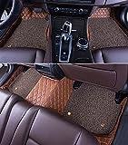 KUNFINE 3D Auto Fußmatten Auto Fussmatten für Porsche Cayenne Automatten Autogummimatten Mit Einer Schicht Thermosol Coil Pad Wasserdicht 4 Farben Optionale Schwarz Mokka Braun Beige