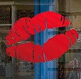 Kissy labios labios adherencia estática ventana adhesivo. De San Valentín ventana pegatinas por Stickers4, large