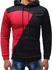Herren Pullover Kapuzenpullover Casual Hoodie Sweatjacke Mode Splice Langarm Shirt Sweater Sweatshirt Kapuzenjacke Kapuzenshirt Kapuzen-Sweatshirt mit Kapuze Mantel Outwear Leey