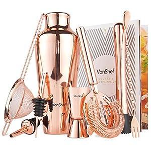 VonShef-Conjunto-de-Coctelera-Parisian-Premium-de-cobre-en-caja-de-regalo-con-manual-de-recetas-y-accesorios
