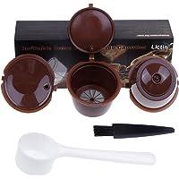 Capsule Filtre de Café Réutilisables, Lictin 3 Pcs Capsules Rechargeables à Café Compatibles avec les Machines Nescafe…